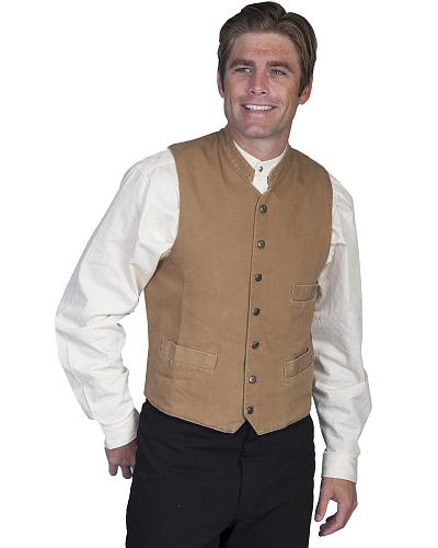 Rangewear by Scully Standup Round Collar Vest Western & Country RW149 WAL