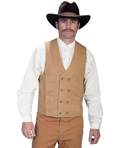 Rangewear by Scully Cotton Canvas Double Breasted Vest $49.99 AT vintagedancer.com