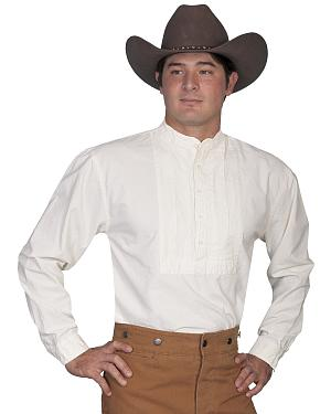 Rangewear by Scully Classic Pleated Bib Inset Frontier Shirt $49.99 AT vintagedancer.com