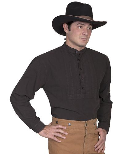 Rangewear by Scully Classic Pleated Bib Inset Frontier Shirt $46.00 AT vintagedancer.com