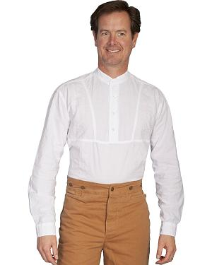 Rangewear by Scully Rounded Collar Bib Inset Frontier Shirt $49.99 AT vintagedancer.com