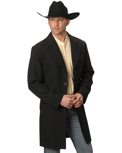 WahMaker by Scully Wool Blend Frock Coat - Big  Tall $188.97 AT vintagedancer.com
