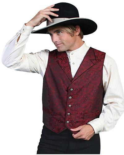 Rangewear by Scully Paisley Vest Big and Tall Western & Country RW164X-RED