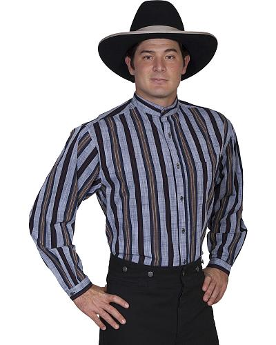 Rangewear by Scully Stripe Button Shirt - Big and Tall $51.99 AT vintagedancer.com