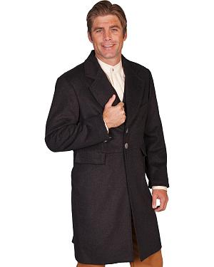WahMaker Old West by Scully Wool Blend Frock Coat
