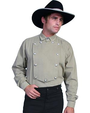 WahMaker Old West by Scully Brushed Twill Bib Shirt - Big and Tall