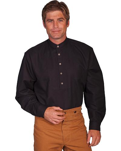 Wahmaker Old West by Scully Scallop Front Shirt $85.99 AT vintagedancer.com