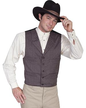 WahMaker Old West by Scully Four Pocket Striped Vest $79.99 AT vintagedancer.com