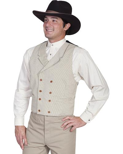 Wahmaker Old West by Scully Double Breasted Vest $79.99 AT vintagedancer.com