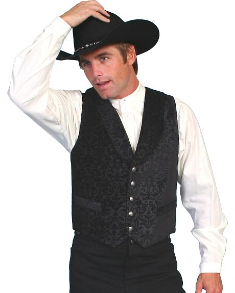 WahMaker Old West by Scully Brocade Vest - Big Size (3XL)