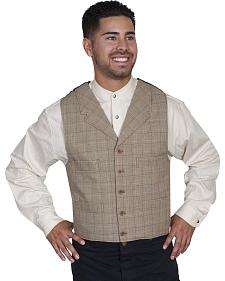 WahMaker Old West by Scully Men's Cotton Plaid Vest