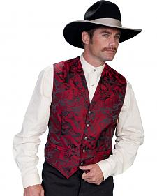WahMaker Old West by Scully Dragon Pattern Vest - Big and Tall Sizes
