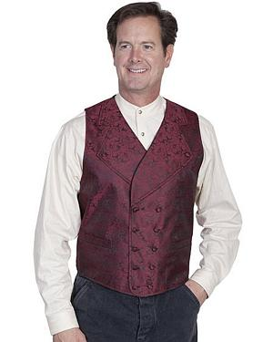 Rangewear by Scully Wide Notched Lapel Vest - Big Sizes 3XL - 4XL $66.99 AT vintagedancer.com