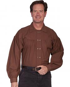 Rangewear by Scully Old West Style Double Button Placket Shirt