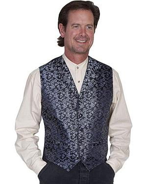 Rangewear by Scully Vine Print Vest - Big Sizes (3XL - 4XL)