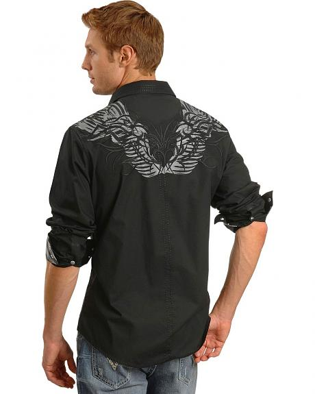 Rock & Roll Cowboy Wing Print Shirt