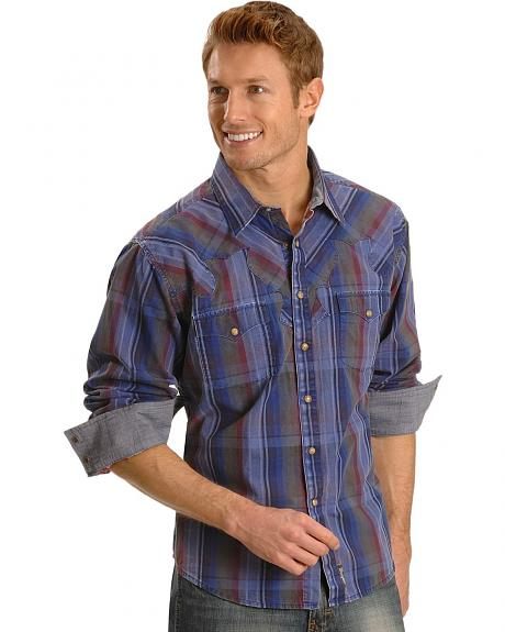 Wrangler Plaid Retro Western Shirt