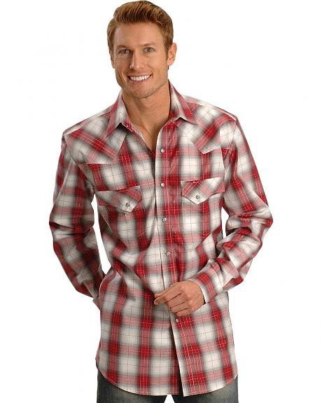 Exclusive Gibson Trading Company Plaid Ombre Western Shirt