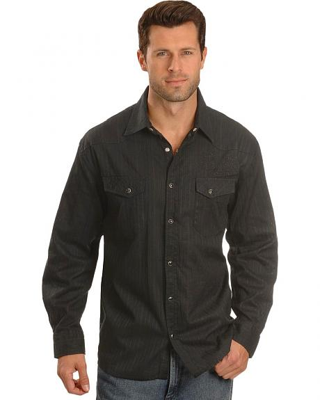 Men's Tone-On-Tone Striped Western Shirt