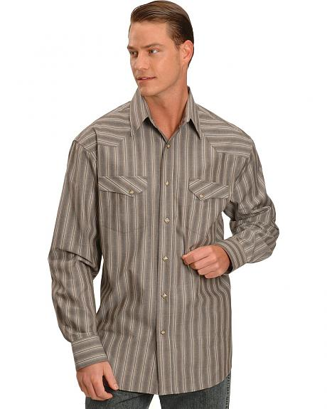 Exclusive Gibson Trading Co. Men's Striped Snap Western Shirt