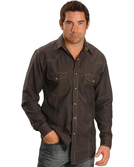 Exclusive Gibson Trading Co. Men's Solid Snap Western Shirt