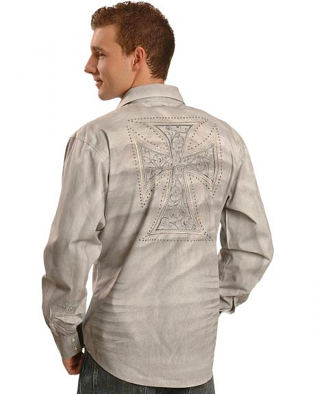 Wrangler Rock 47 Spray Finish Cross Western Shirt