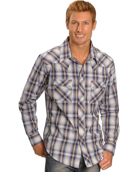 Wrangler George Strait Plaid Jean Shirt