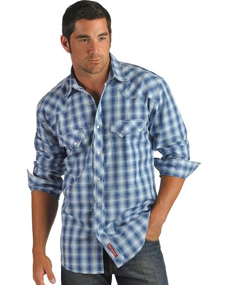 Red Ranch Multi-Colored Plaid Snap Front Shirt