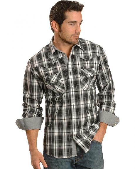 Red Ranch Bold Black & White Plaid Western Shirt