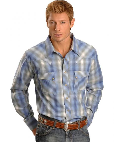 Wrangler Grey Ombre Fashion Snap Shirt