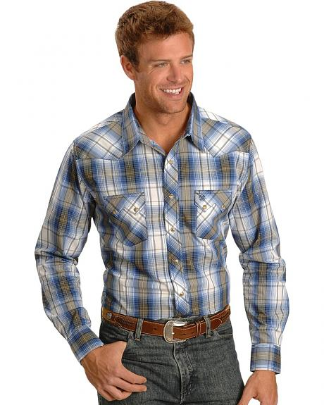 Wrangler Long Sleeve Plaid Print Shirt