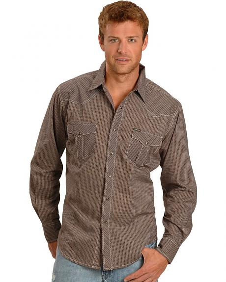 Cinch�  Print Stripe Slim Fit Long Sleeve Shirt