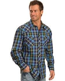 Tin Haul Horizon Multi Colored Plaid Long Sleeve Shirt