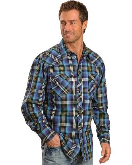 Tin Haul Horizon Multi Colored Plaid Long Sleeve Shirt