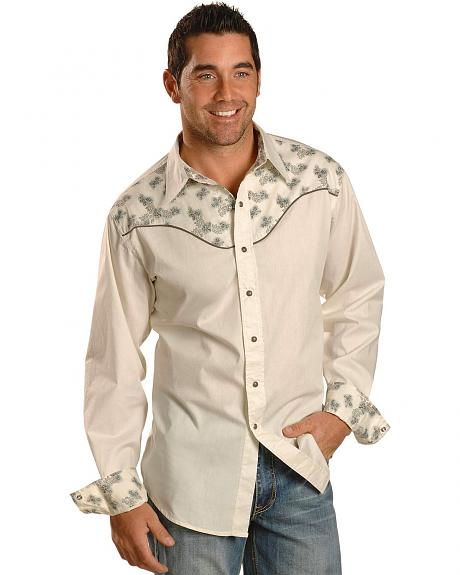 Tin Haul Solid Contrasting Poplin Yoke Shirt