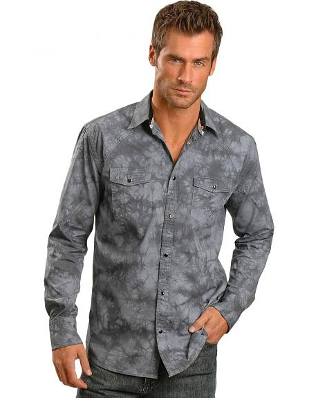Red Ranch Grey Wash Embroidered Shirt