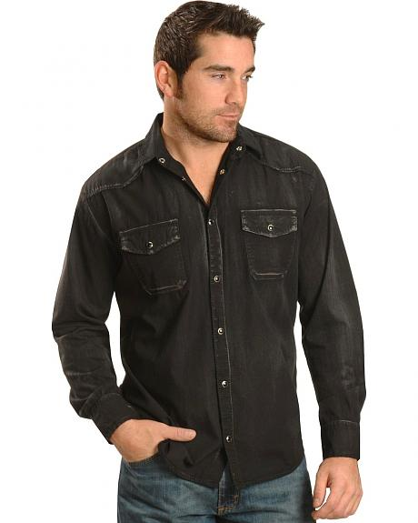 Red Ranch Black Wash Western Shirt