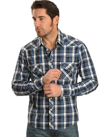 Rock & Roll Cowboy Blue Plaid with