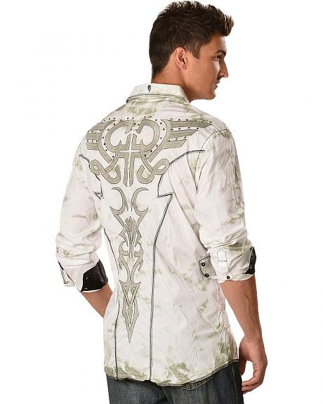 Roar Sanctified Tribal Embroidered Shirt