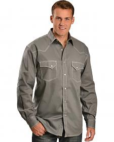 Red Ranch Top Stitched Grey Western Shirt