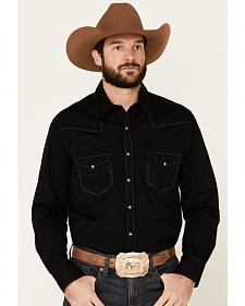 Rock & Roll Cowboy Men's Black Dyed Twill Western Shirt