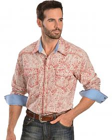 Rock & Roll Cowboy Red Floral Print Shirt