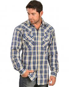 Red Ranch Embroidered Fancy Yoke Plaid Western Shirt