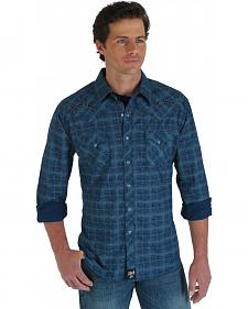 Wrangler Rock 47 Men's Green & Navy Plaid Shirt