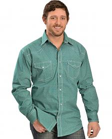 Red Ranch Diamond Green Long Sleeve Western Shirt