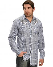 Red Ranch Blue & White Plaid Retro Shirt