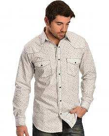 Red Ranch White and Black Embroidered Paisley Western Shirt