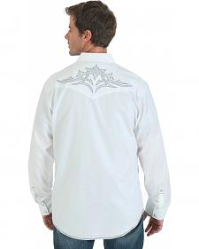 Wrangler Rock 47 Embroidered White Western Shirt