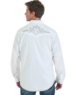 Wrangler Rock 47 Embroidered White Western Shirt