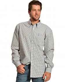 Cinch Men's Modern Fit Dobby Button Long Sleeve Shirt